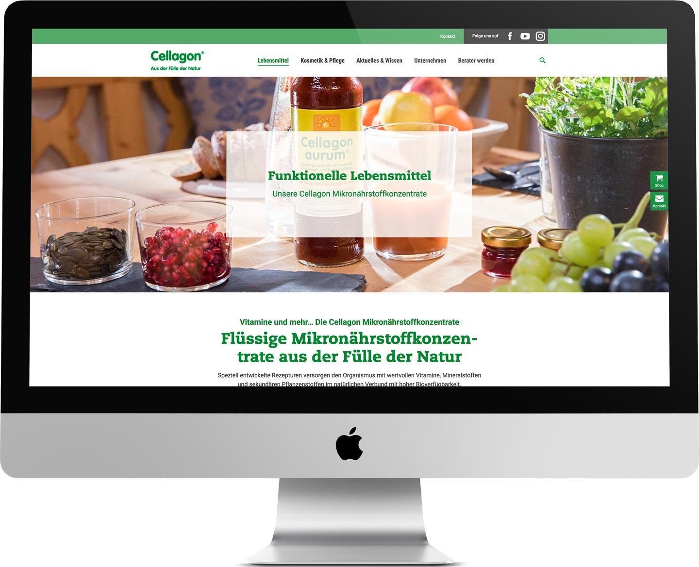 marktrausch Referenz: Cellagon – Darstellung Webdesign
