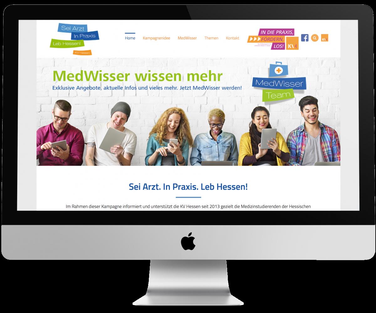 marktrausch Referenz: KV Hessen – Darstellung Webdesign