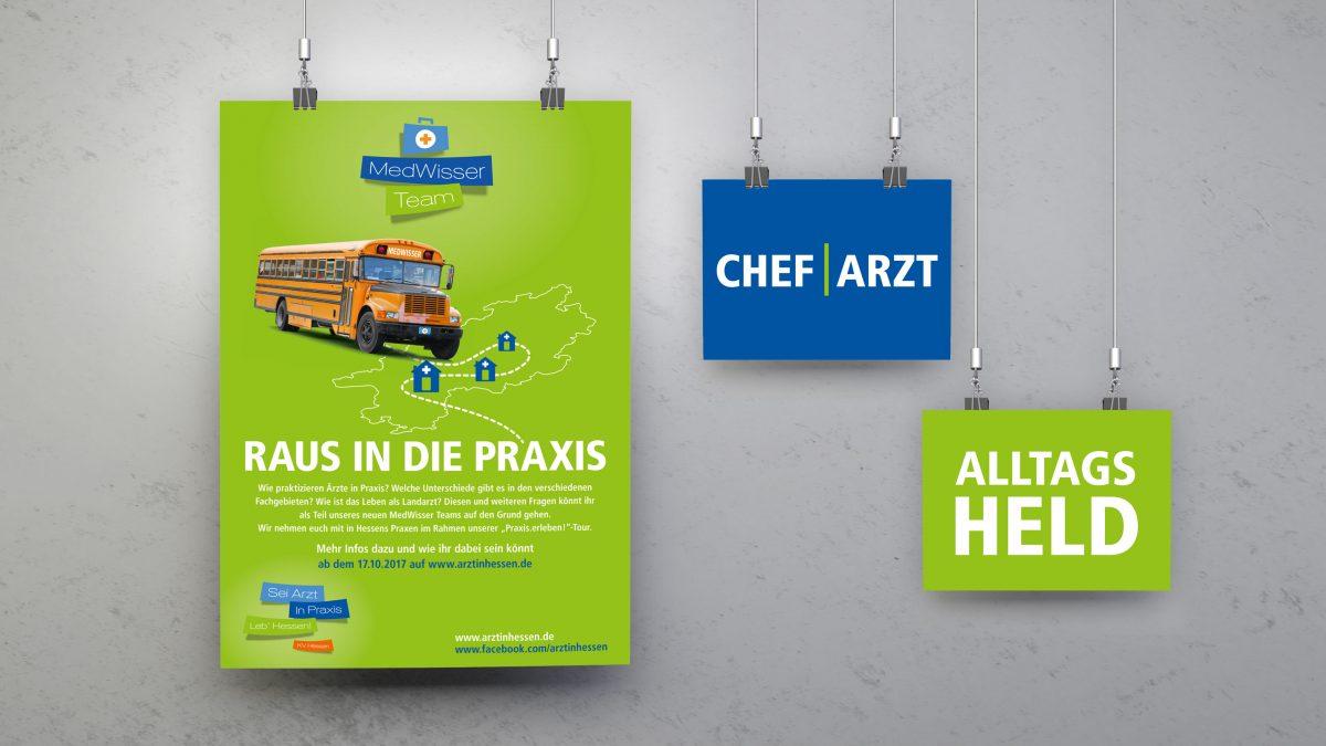 marktrausch Referenz: KV Hessen – Darstellung Plakat Postkarten