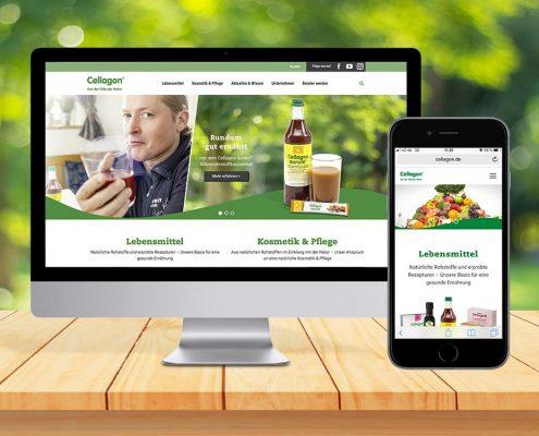 marktrausch Blog: Cellagon – Teaserbild Webdesign