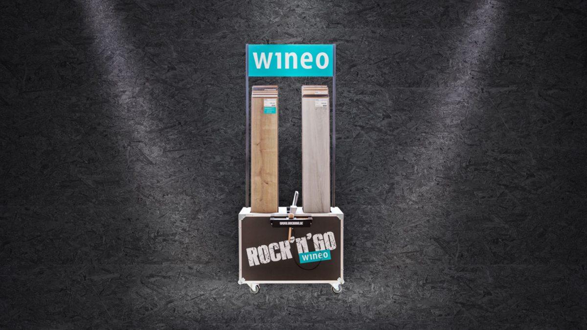 marktrausch Referenz: wineo – Darstellung Produkt-Aufsteller für Messe