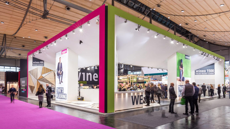 marktrausch Referenz: wineo – Messestand Domotex 2018