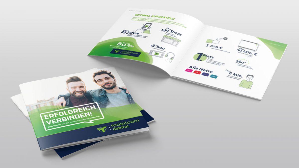 marktrausch für mobilcom-debitel: Franchise-Broschüre