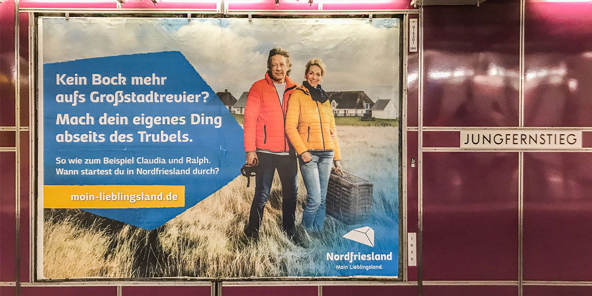 marktrausch für Kreis Nordfriesland: Plakataktion